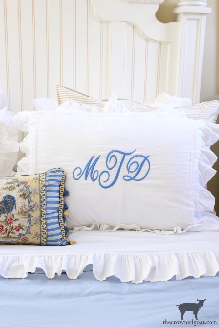 Blue-and-White-Guest-Bedroom-Refresh-The-Crowned-Goat-14 Blue and White Guest Bedroom Refresh Bliss Barracks Decorating DIY