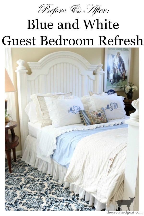 Blue-and-White-Guest-Bedroom-Refresh-The-Crowned-Goat-20 Blue and White Guest Bedroom Refresh Bliss Barracks Decorating DIY