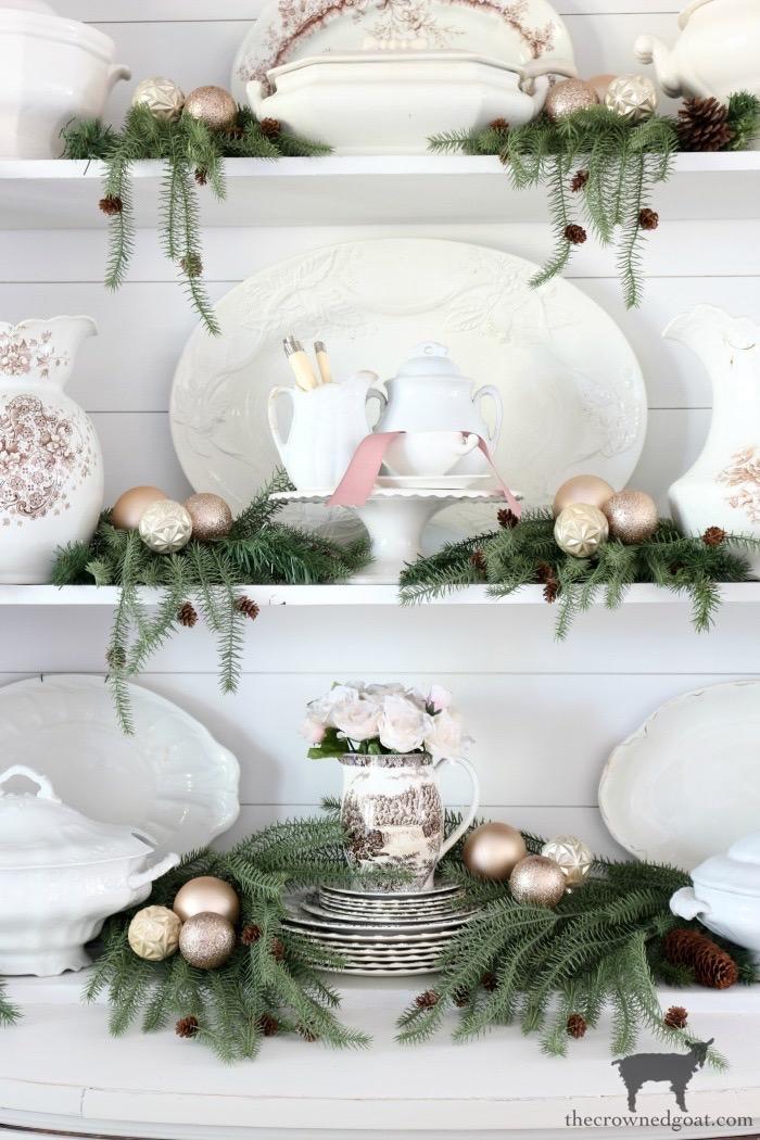 Soft-Romantic-Farmhouse-Christmas-Dining-Room-The-Crowned-Goat-3 Soft & Romantic Farmhouse Christmas Dining Room Christmas Holidays