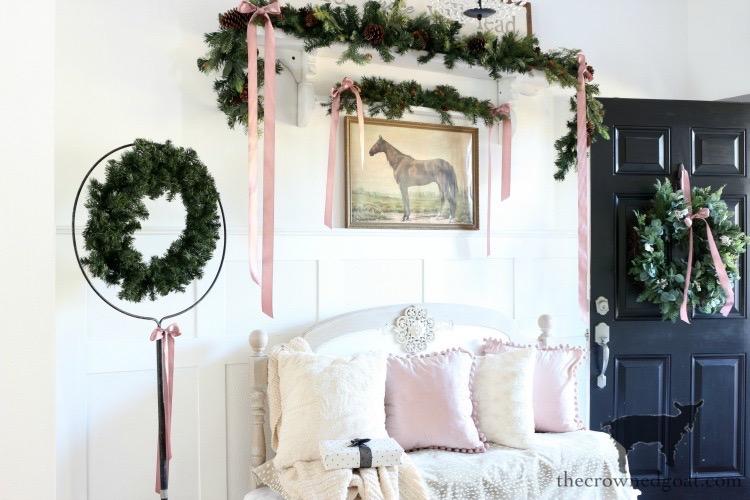 Soft-and-Romantic-Farmhouse-Christmas-Entry-The-Crowned-Goat-13 Soft & Romantic Farmhouse Christmas Entry Christmas Holidays