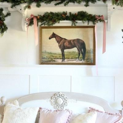 Soft & Romantic Farmhouse Christmas Entry