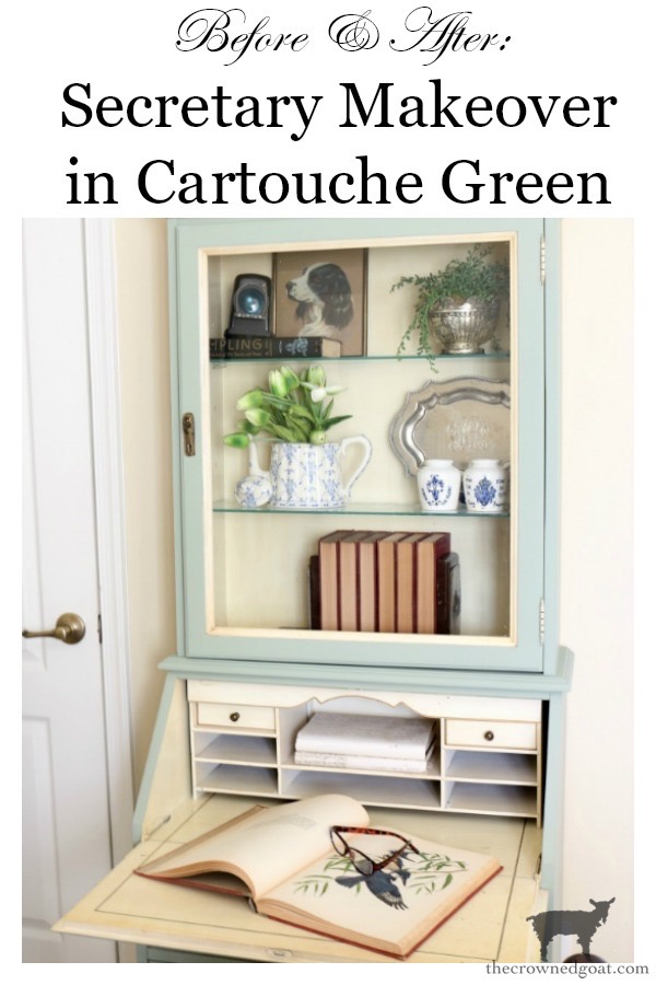 Secretary-Makeover-in-Cartouche-Green-The-Crowned-Goat-19 Secretary Makeover in Cartouche Green Bliss Barracks DIY Painted Furniture