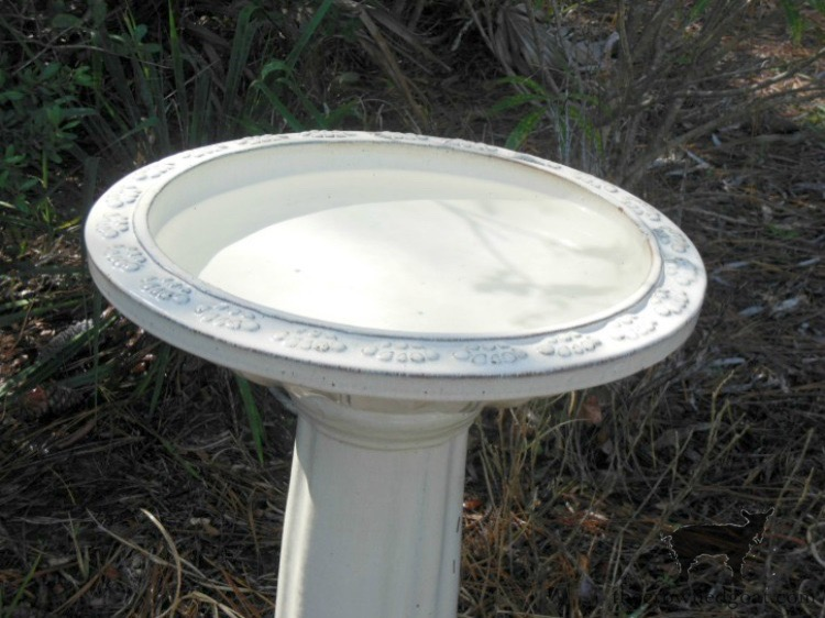 How-to-Clean-a-Ceramic-Birdbath-The-Crowned-Goat-12 How to Clean a Ceramic Glazed Birdbath DIY Spring Summer