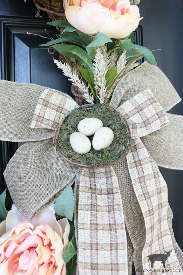 Simple-Spring-Grapevine-Wreath-The-Crowned-Goat-2 Simple Spring Grapevine Wreath Crafts Decorating Holidays Spring