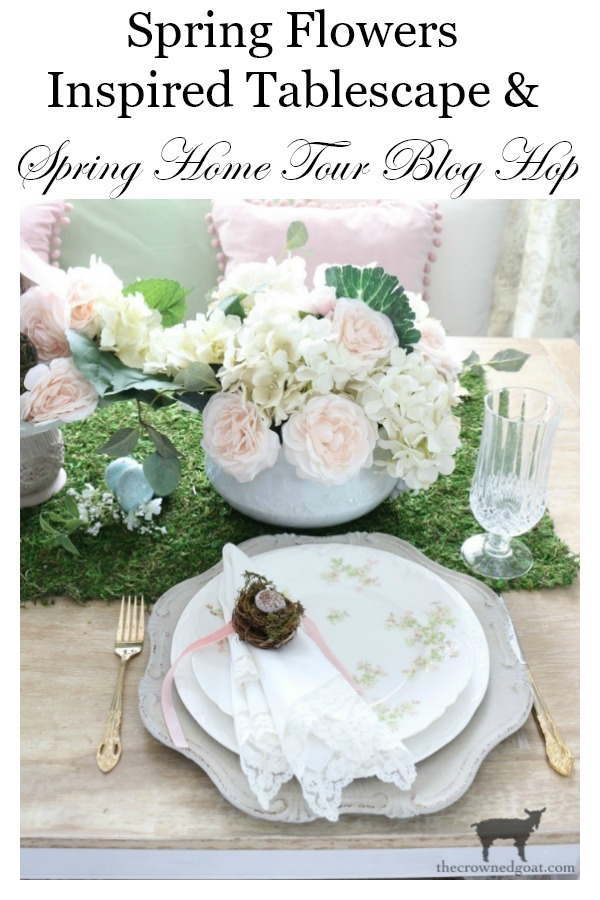 Spring-Inspired-Floral-Tablescape-The-Crowned-Goat-19 Spring Flowers Inspired Tablescape & Blog Hop Decorating Holidays Spring