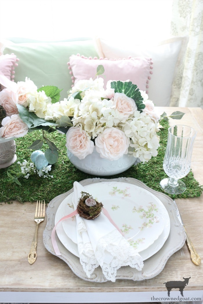 Spring-Inspired-Floral-Tablescape-The-Crowned-Goat-8 Spring Flowers Inspired Tablescape & Blog Hop Decorating Holidays Spring