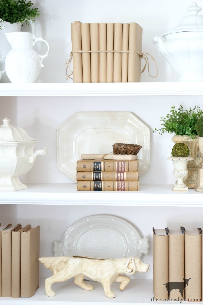 Easy-Tips-for-Styling-a-Bookcase-The-Crowned-Goat-4 From the Front Porch From the Front Porch