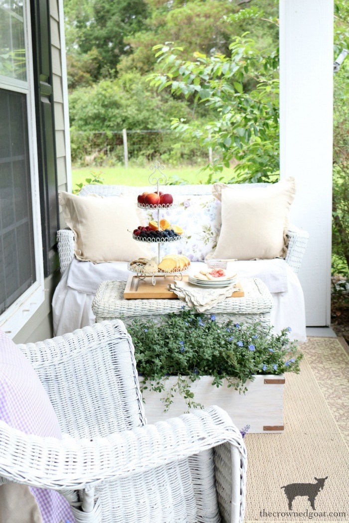 Summer-Porch-Tour-The-Crowned-Goat-2 Cottage Inspired Summer Porch Tour Decorating DIY Summer