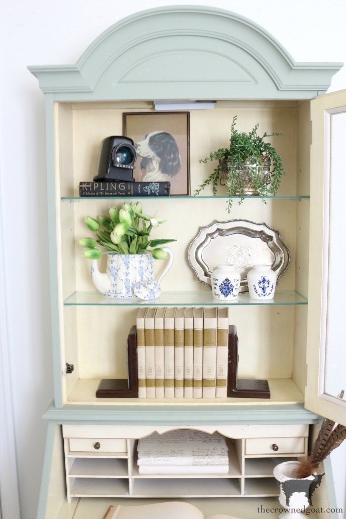 French-Country-Bench-Makeover-in-Cartouche-Green-The-Crowned-Goat-1 French Country Bench Makeover in Cartouche Green Bliss Barracks Decorating DIY Painted Furniture
