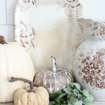 DIY-Brown-and-White-Transferware-Pumpkins-The-Crowned-Goat-19 Holidays