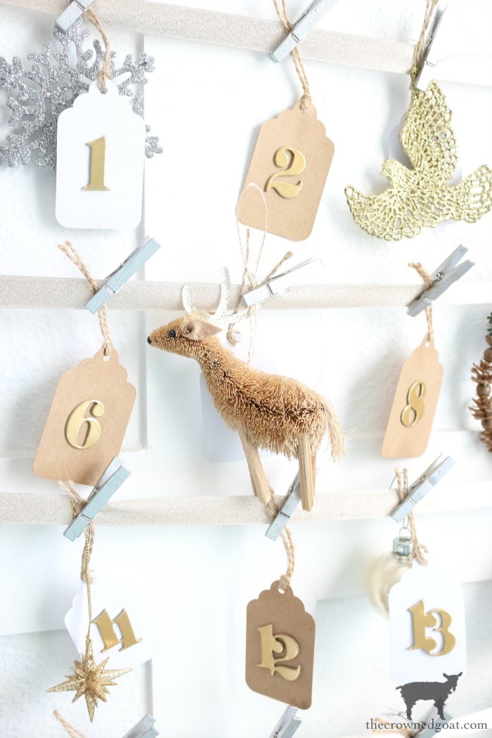 Antique-Picture-Frame-Advent-Calendar-The-Crowned-Goat-12 Easy Ways to Decorate with Frames Decorating DIY