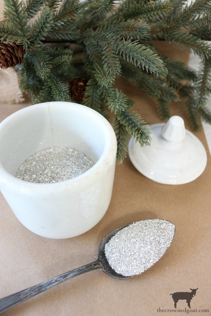 DIY-Glitter-Glass-Snowflake-Ornaments-The-Crowned-Goat-5 Glass Glitter Snowflake Ornaments Christmas Crafts Holidays