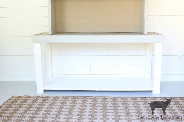 Painted-Hutch-And-Console-Table-Base-The-Crowned-Goat-9 DIY Console Table Base DIY One_Room_Challenge The Crowned Goat Cottage