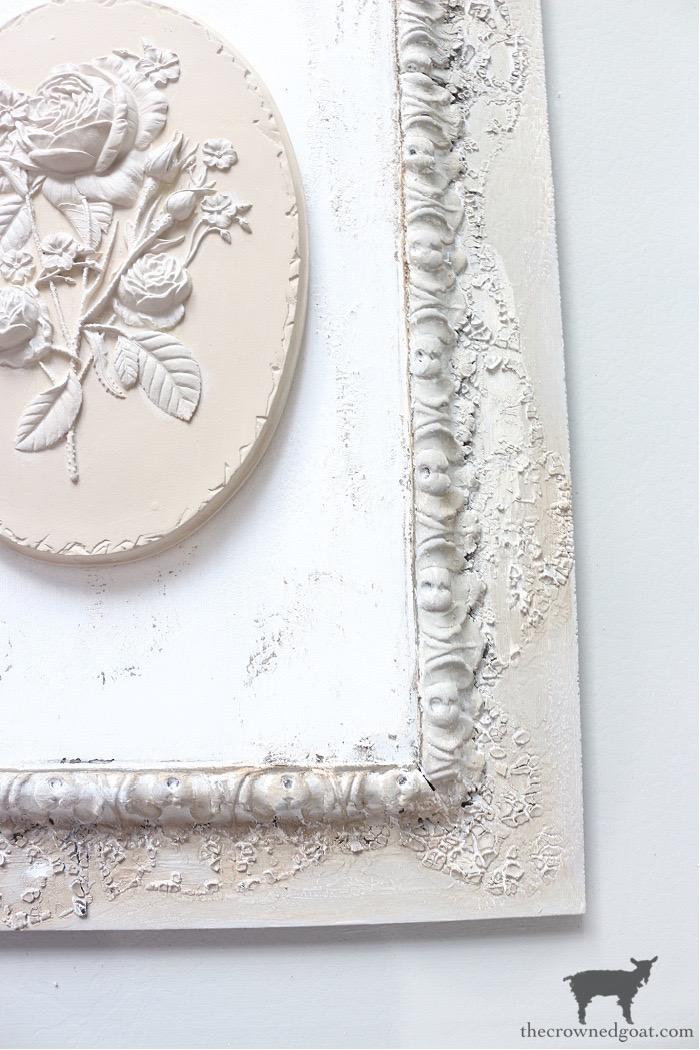 DIY-Plaster-Flower-Plaque-The-Crowned-Goat-12 DIY Plaster Flower Plaque Crafts Decorating DIY
