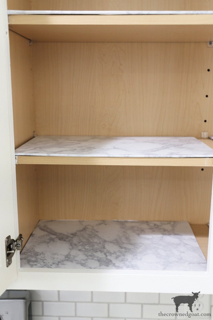 DIY-Marble-Drawer-and-Shelf-Liner-The-Crowned-Goat Simple DIY Drawer and Shelf Liners Crafts DIY