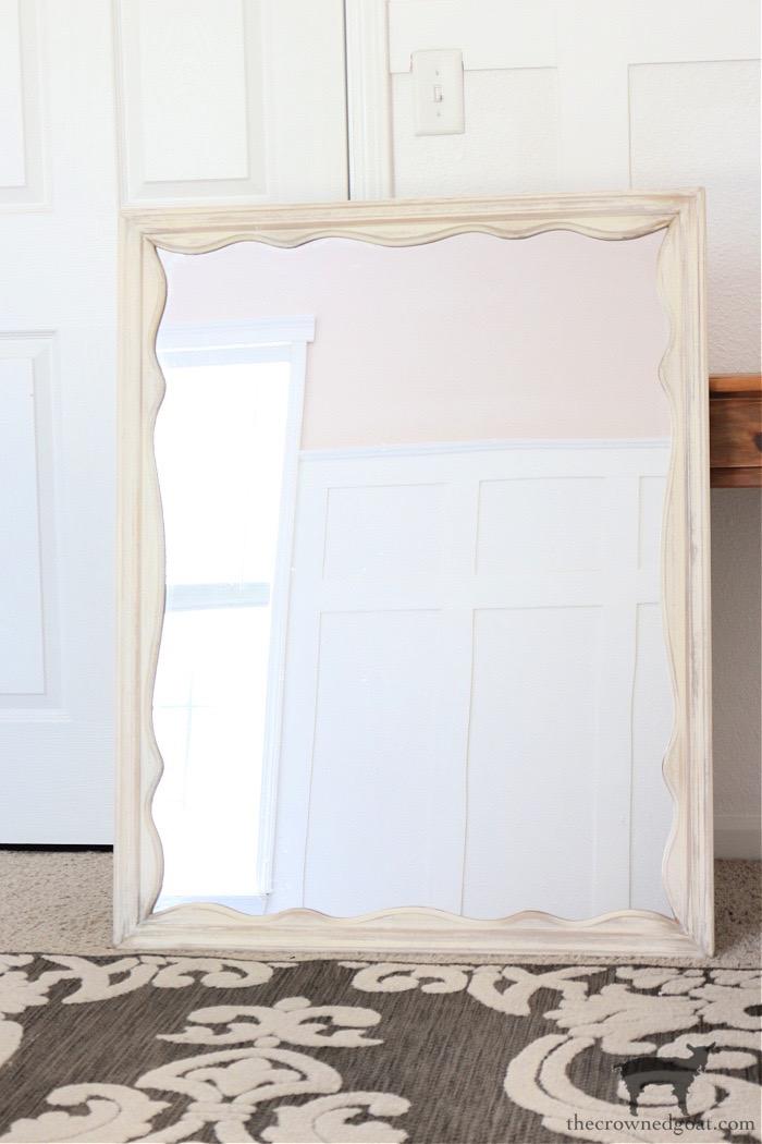DIY-Anthropologie-Inspired-Mirror-Using-a-Vintage-Mirror-The-Crowned-Goat-3 DIY Anthropologie Inspired Mirror DIY One_Room_Challenge