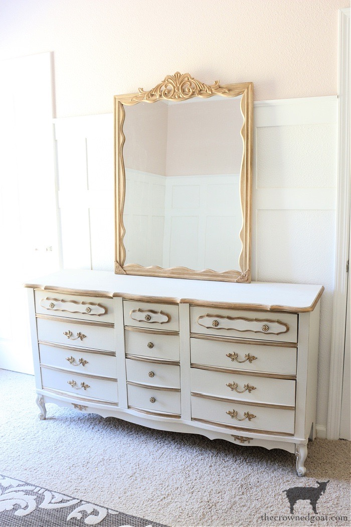 DIY-Anthropologie-Inspired-Mirror-on-French-Country-Dresser-The-Crowned-Goat-15 DIY Anthropologie Inspired Mirror DIY One_Room_Challenge