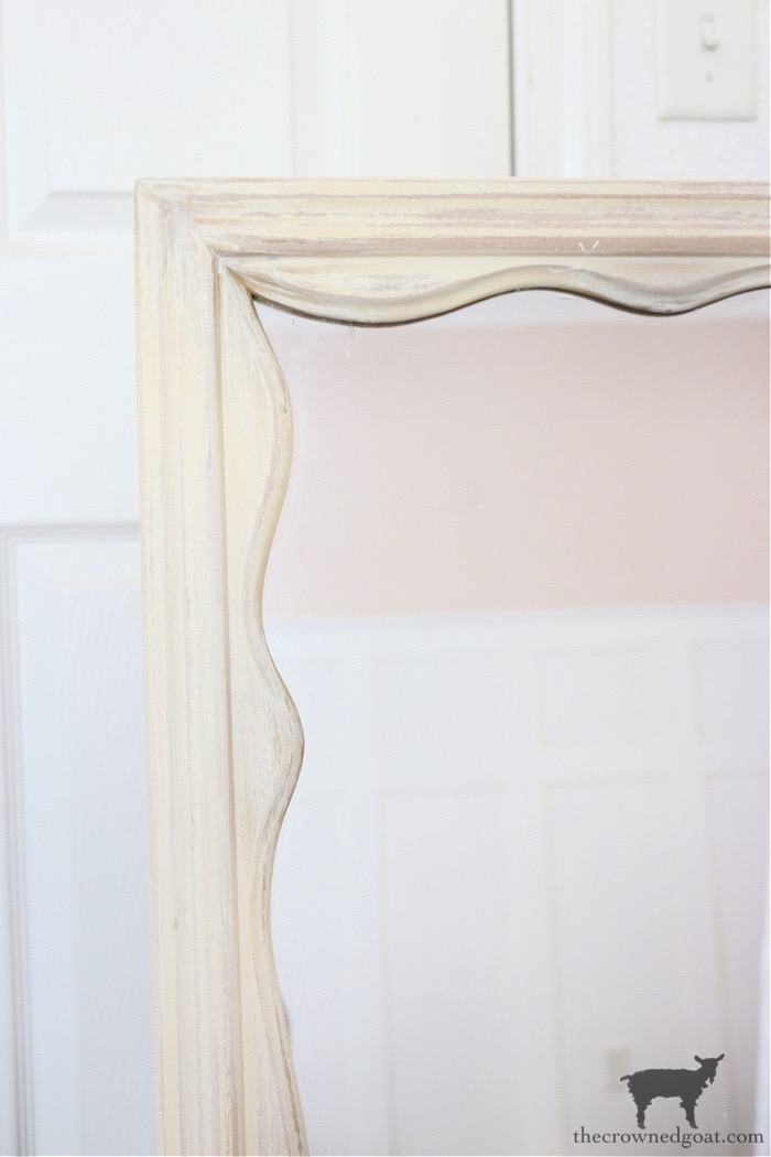 DIY-Anthropologie-Inspired-Mirror-with-Vintage-Dresser-Mirror-The-Crowned-Goat-4 DIY Anthropologie Inspired Mirror DIY One_Room_Challenge
