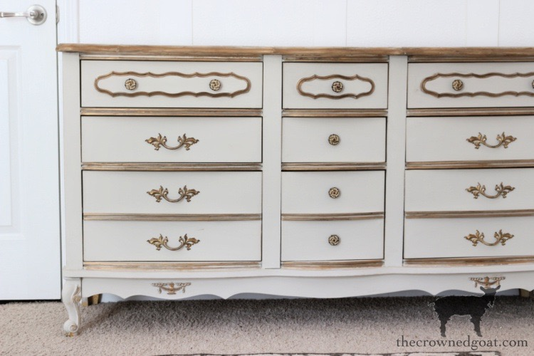 French-Country-Dresser-Makeover-The-Crowned-Goat-8 French Country Dresser Makeover DIY One_Room_Challenge Painted Furniture