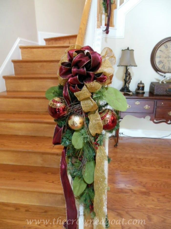 Banister Christmas decorations