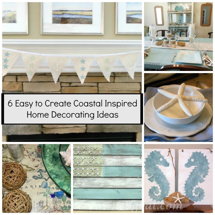 6 Easy to Create Coastal Home Decorating Ideas - The Crowned Goat - 051915-7