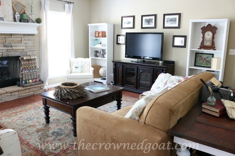 Easy Living Room Updates - The Crowned Goat - 061715-6