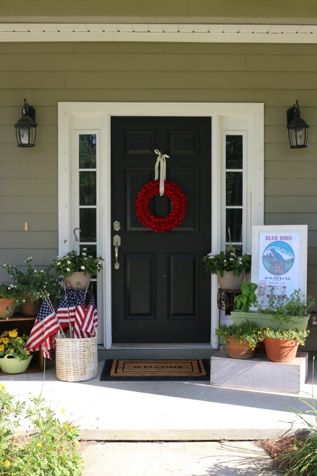 Summer Inspired Front Porch