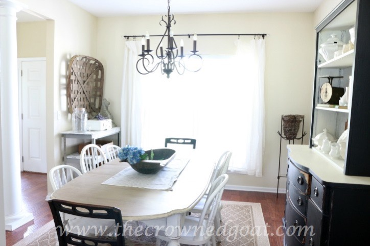 How to Customize Drop Cloth Curtains with Paint & Stencils - The Crowned Goat