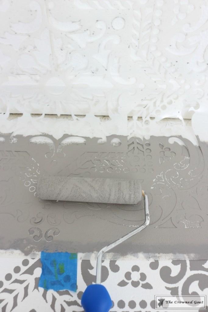 Easily Stencil a Concrete Floor-15