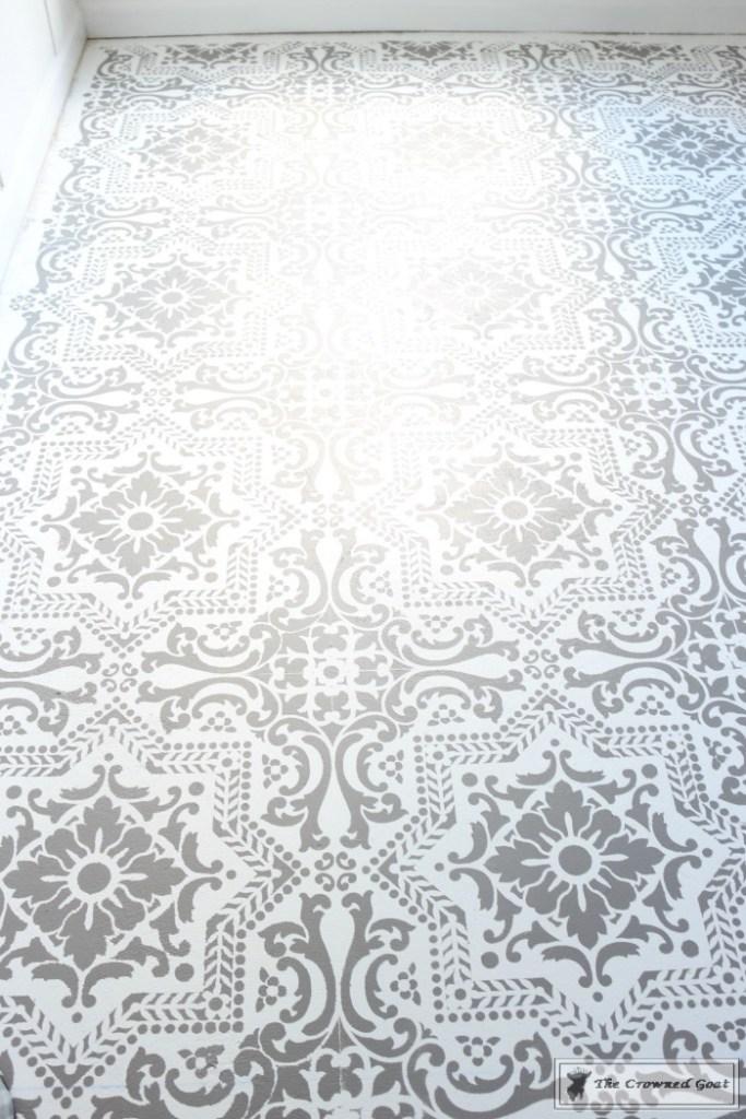 Easily Stencil a Concrete Floor-17