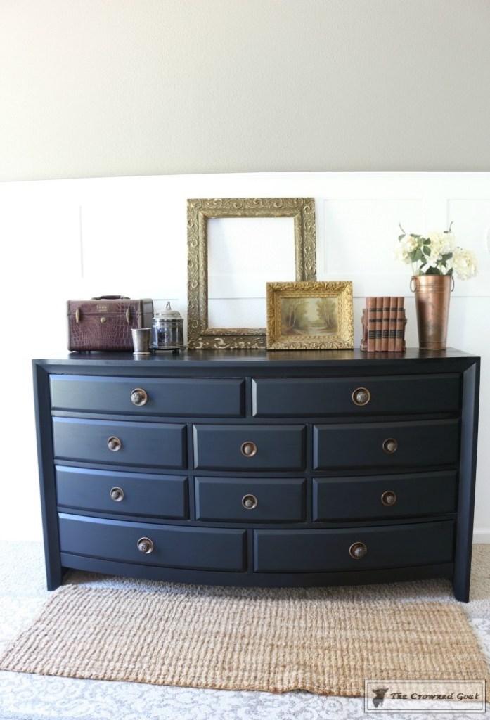 Lamp Black Painted Dresser-9