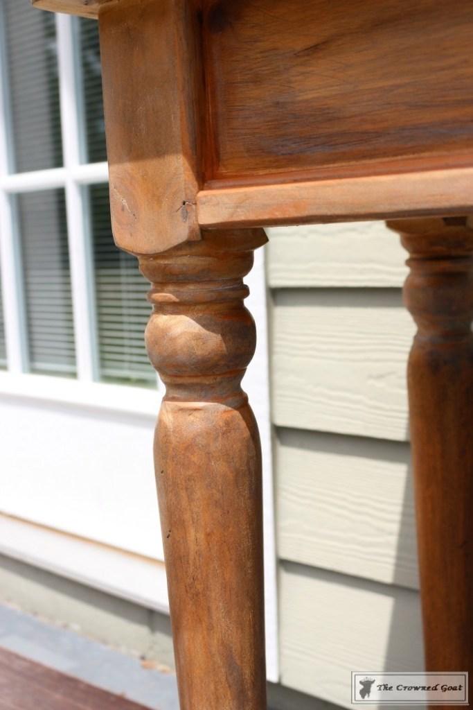 Using Dark Furniture Wax to Cover Orange Pine-11