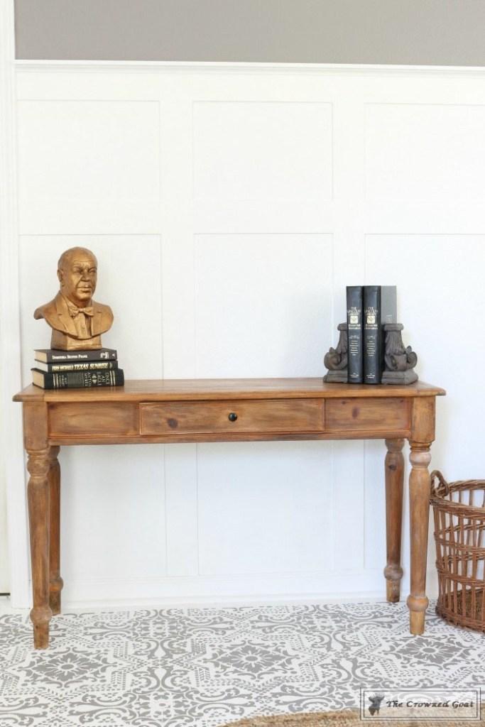 Using Dark Furniture Wax to Cover Orange Pine-13