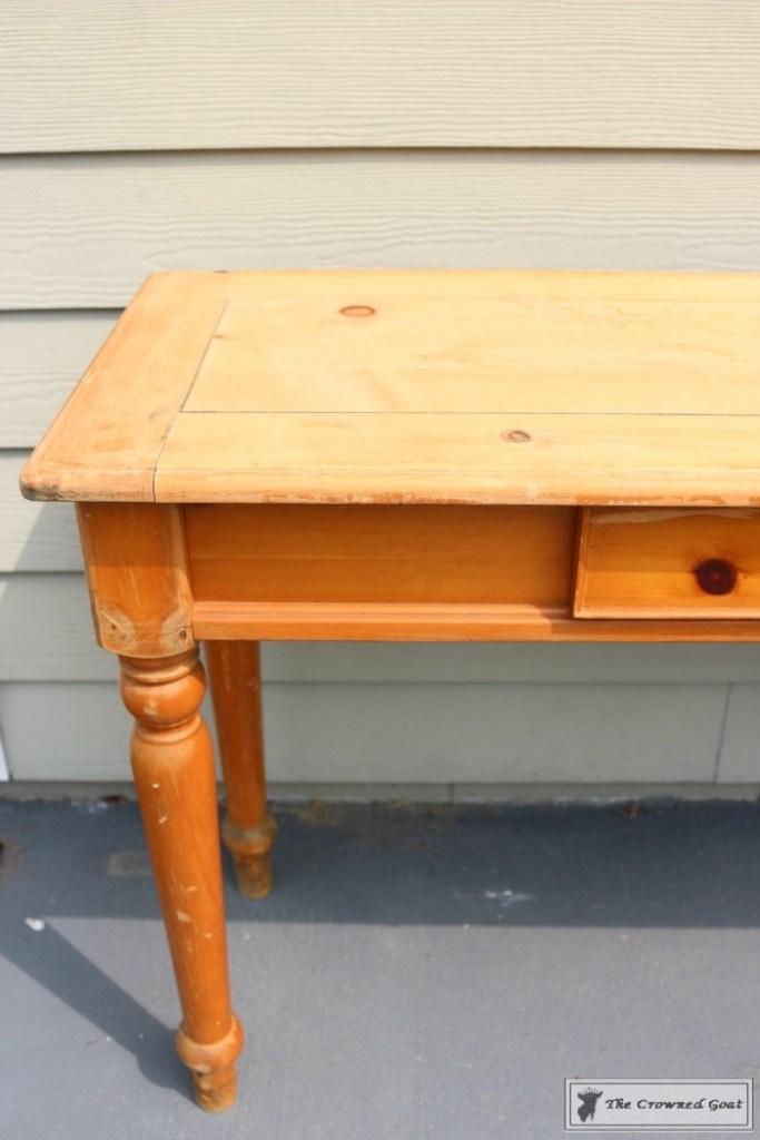 Using Dark Furniture Wax to Cover Orange Pine-3