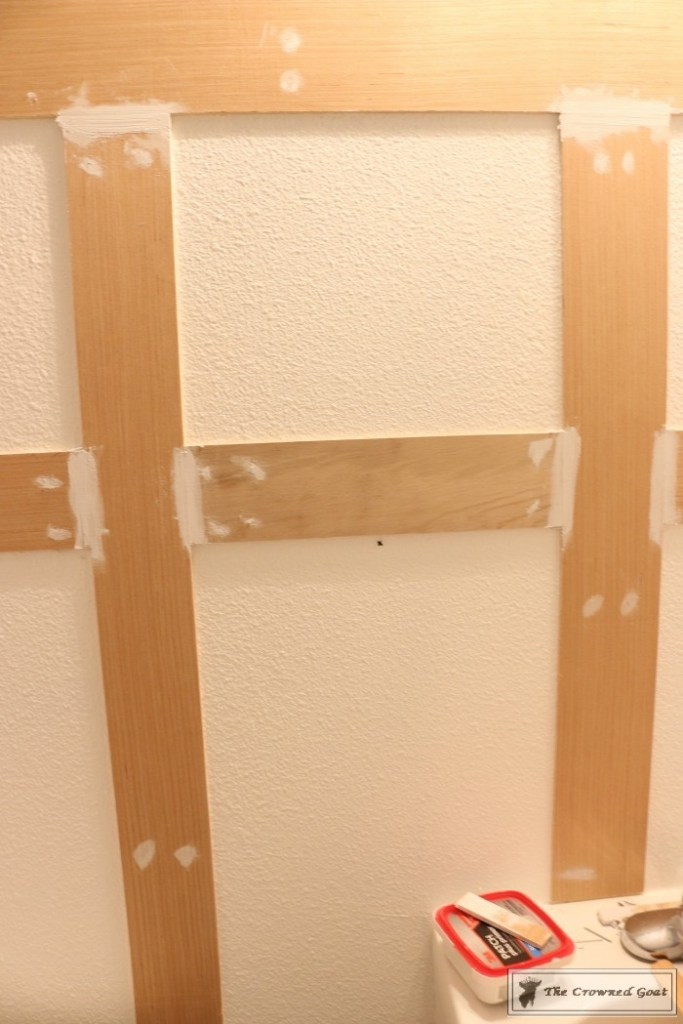 Adding Board and Batten to the Half Bathroom-6