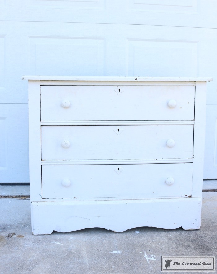 How to Create a Laundry Room Folding Station from a Dresser-The Crowned Goat-1