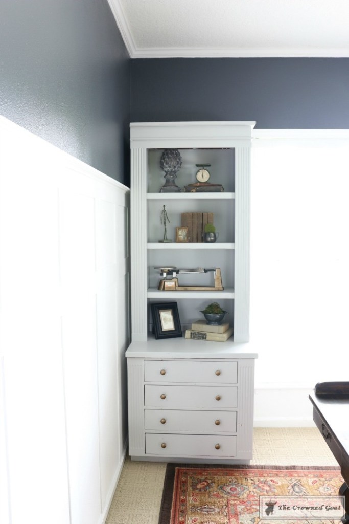 Painted Bookcases in GF Seagull Gray-The Crowned Goat-4
