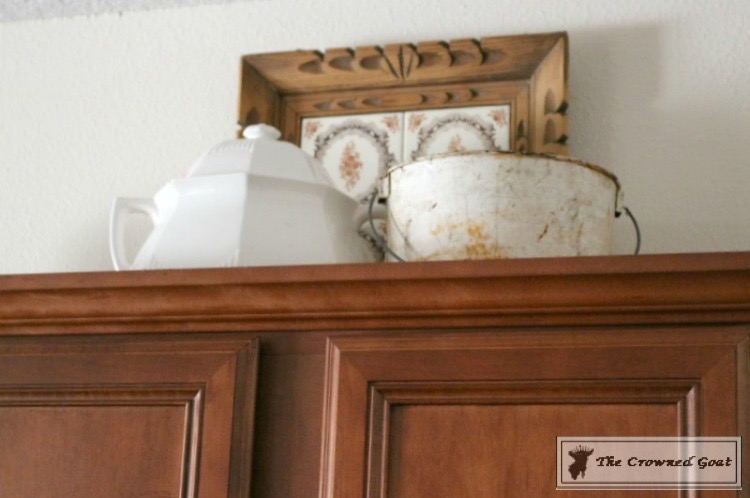 Decorating Kitchen Cabinets-The Crowned Goat-5