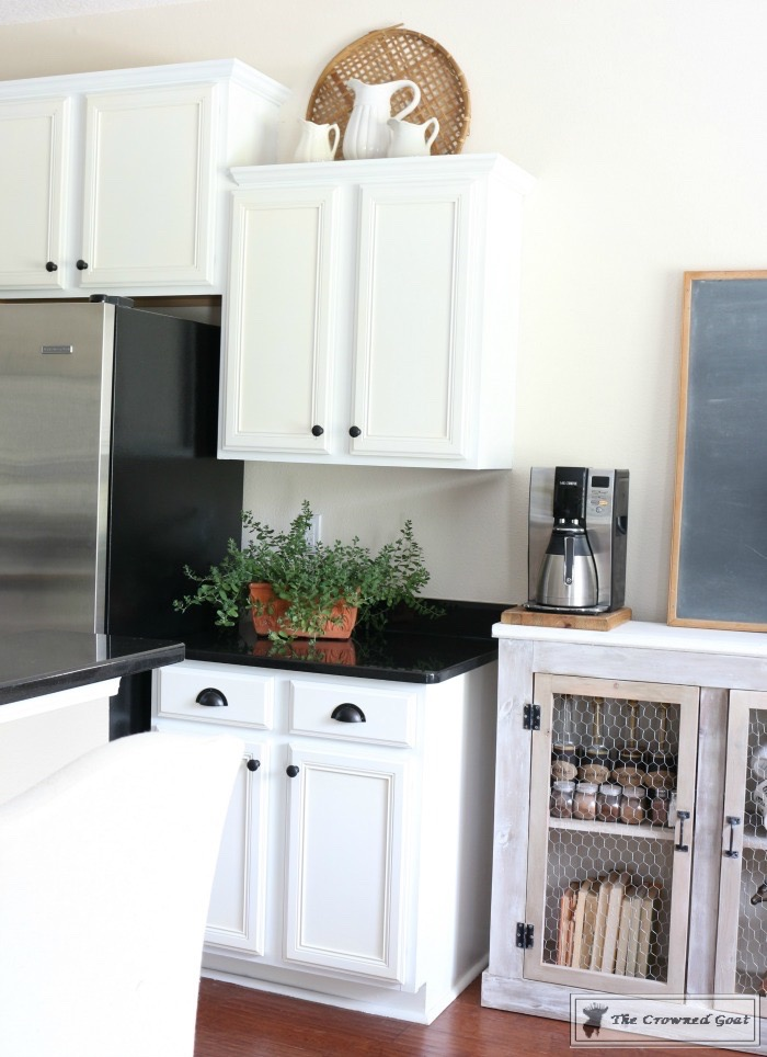 Decorating the Kitchen Cabinets-The Crowned Goat-13