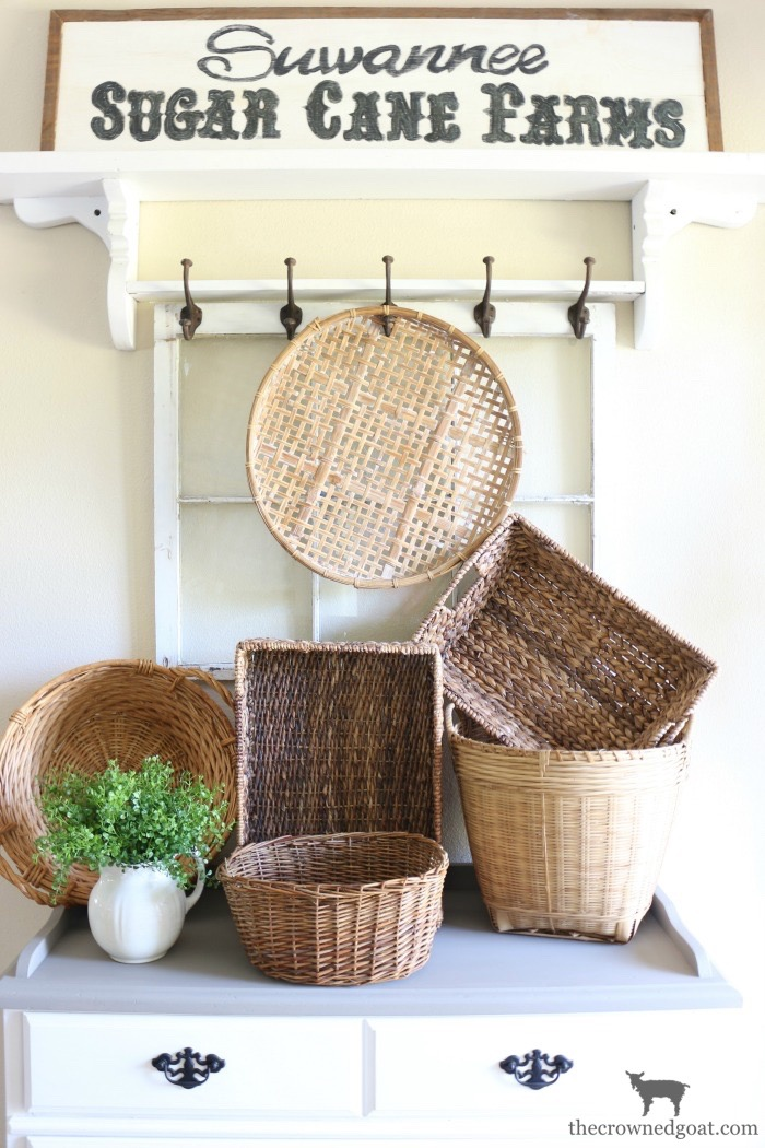 Laundry Room Buffet Makeover