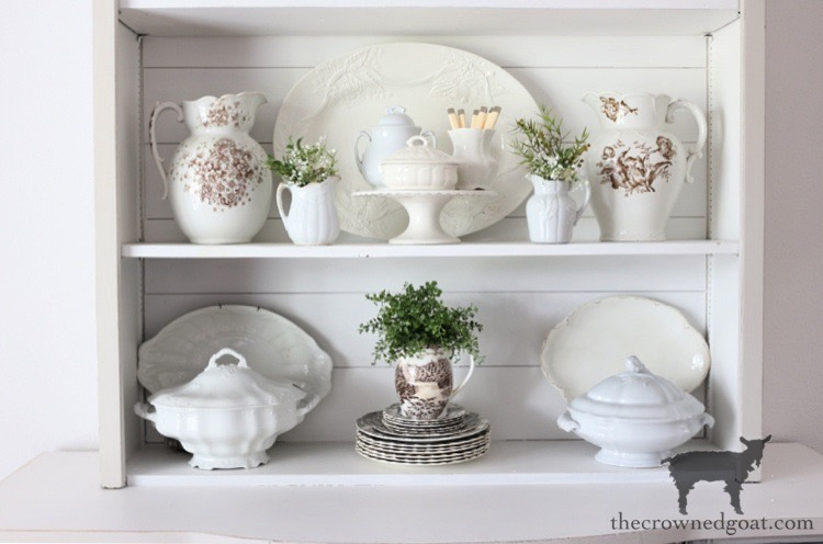 Simple Tips and Tricks for Styling a Dining Room Hutch - The Crowned Goat