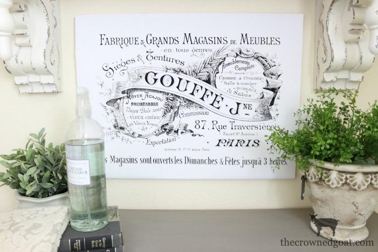 French Inspired Laundry Room Art