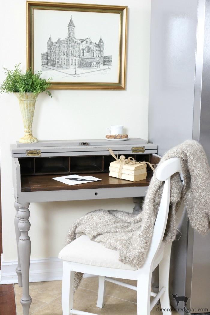 Loblolly Manor: Adding a Desk to the Kitchen