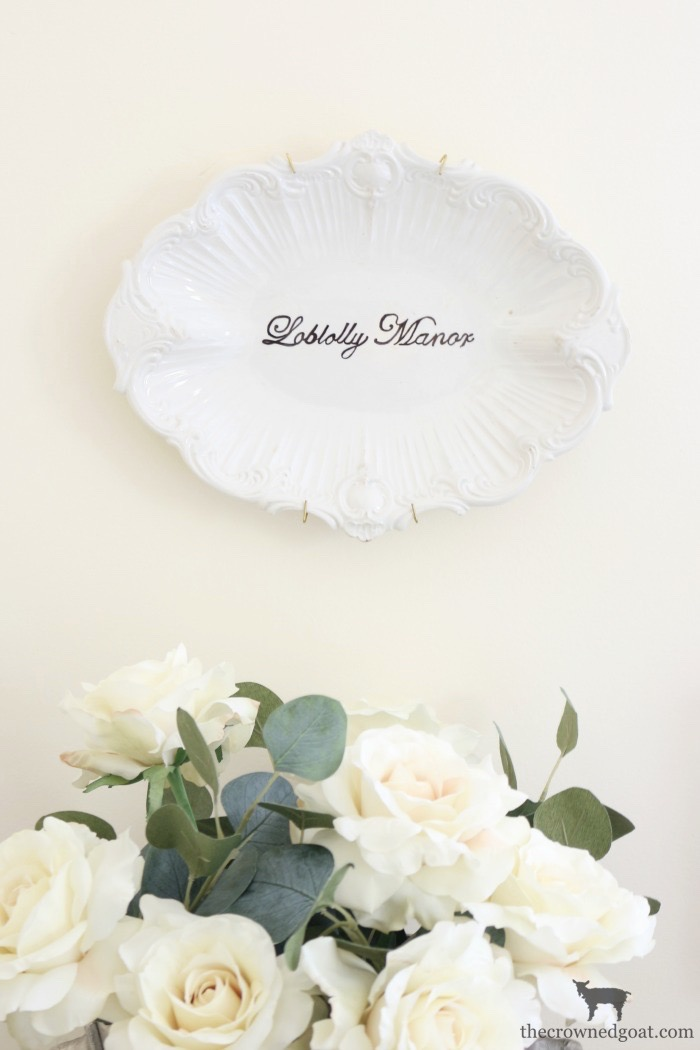 Easily Personalize a Vintage Platter