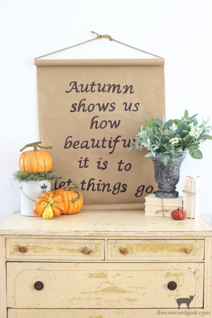 How to Make a Fall Inspired Kraft Paper Sign