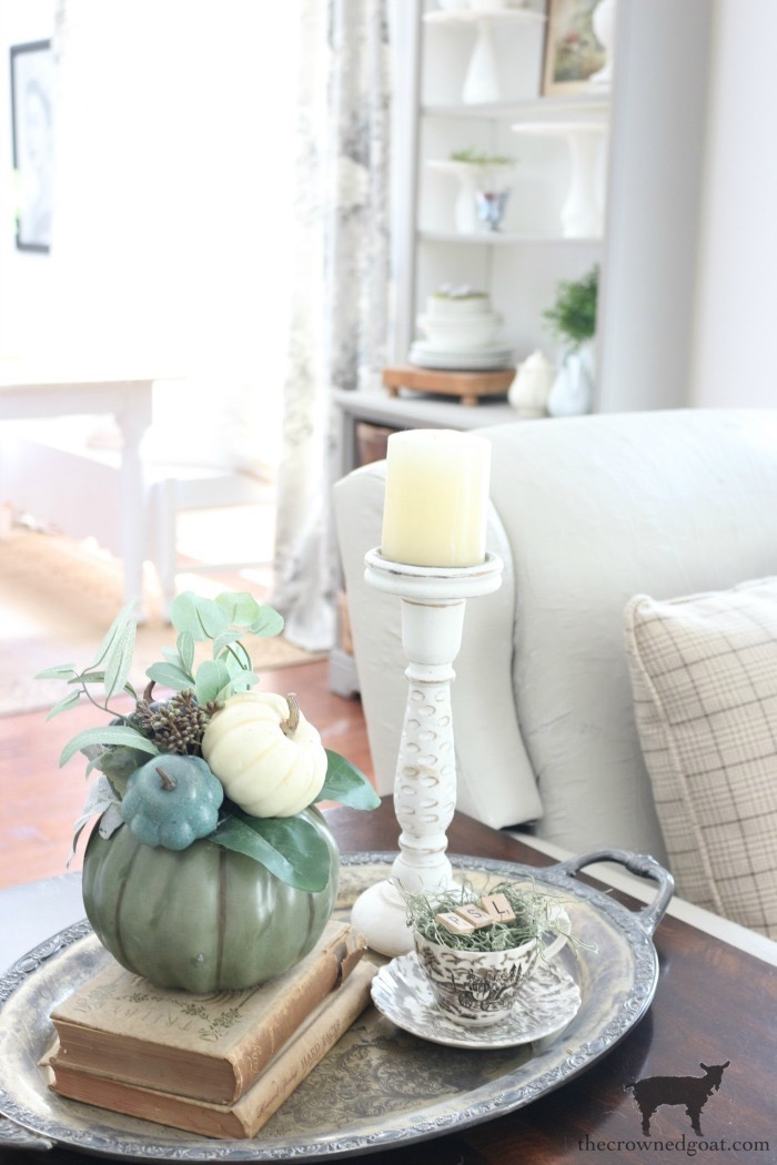 Fall Inspired Living Room and Mantel