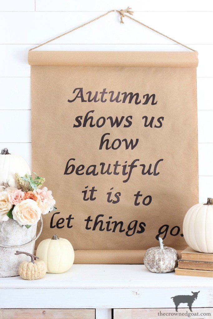 Fall Kraft Paper Sign with Pumpkins-The Crowned Goat