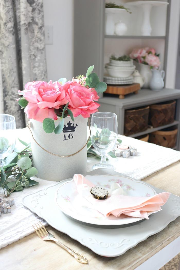 Vintage Valentine's Day Tablescape and Blog Hop