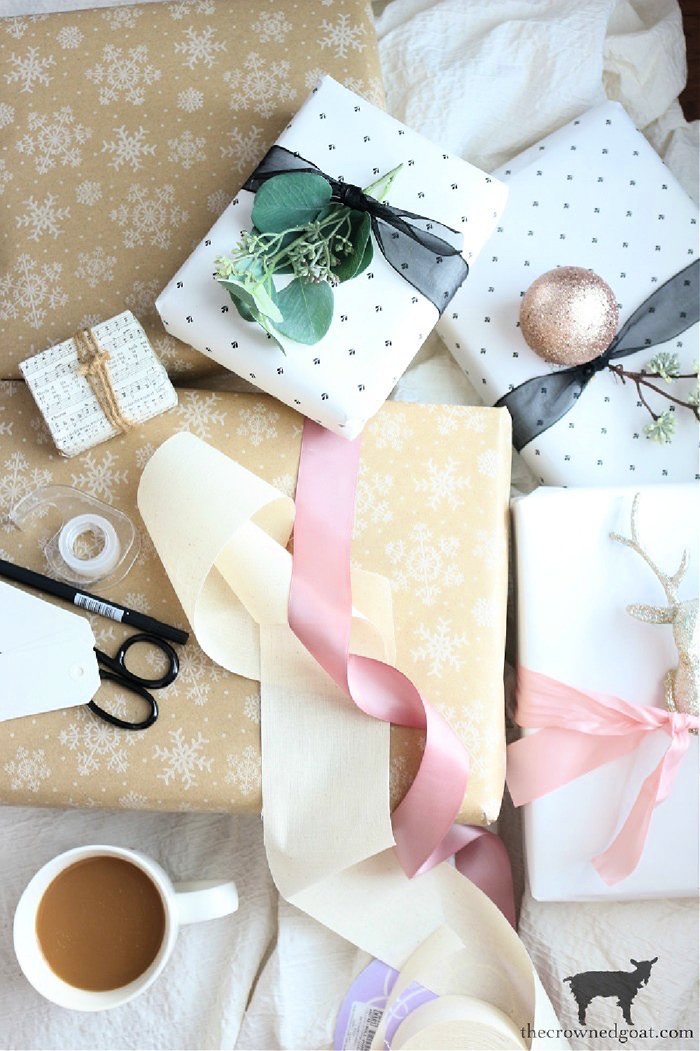 Simple Ways to Prepare Now for the Holidays-Wrapping Paper and Gift Ideas-The Crowned Goat