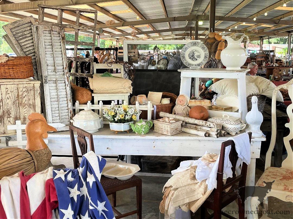 Tips for Shopping Yard Sales and Our Latest Finds-Renningers July Yard Sale-The Crowned Goat